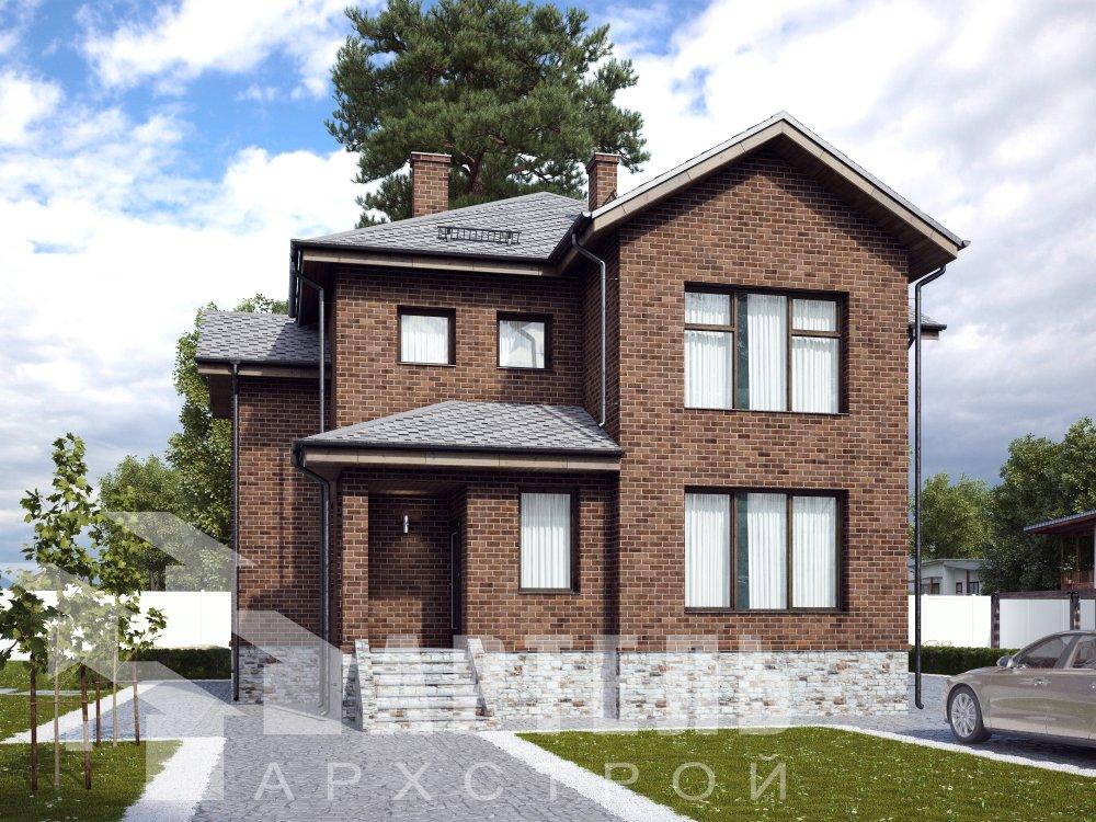 двухэтажный дом омбинированные дома площадью от 150 до 200 кв. м. с  эркером, проект Вариант 10 фотография 6390