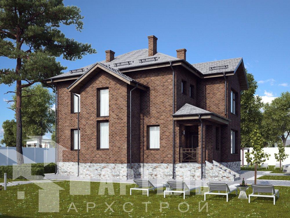 двухэтажный дом омбинированные дома площадью от 150 до 200 кв. м. с  эркером, проект Вариант 10 фотография 6391
