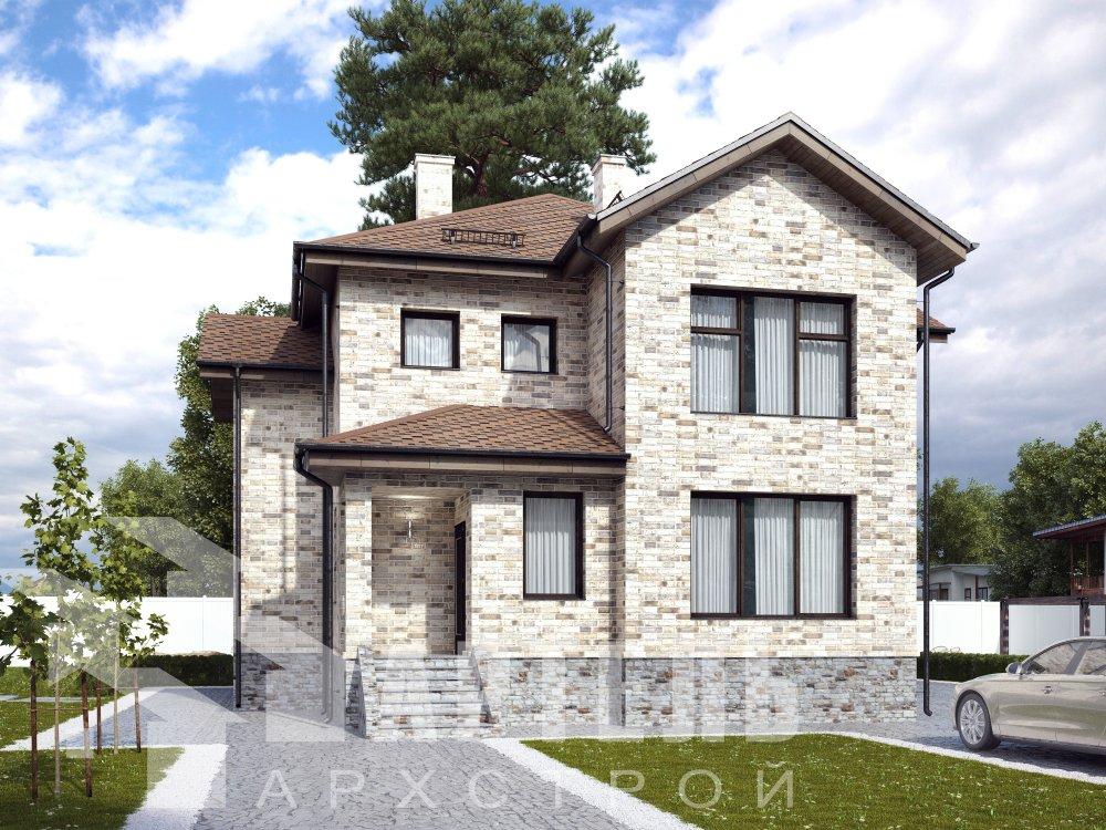двухэтажный дом омбинированные дома площадью от 150 до 200 кв. м. с  эркером, проект Вариант 10 фотография 6392