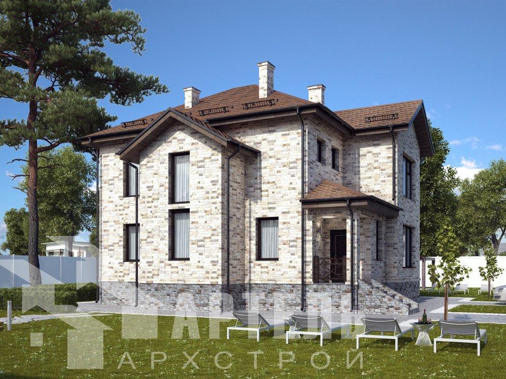двухэтажный дом омбинированные дома площадью от 150 до 200 кв. м. с  эркером, проект Вариант 10 фотография 6393