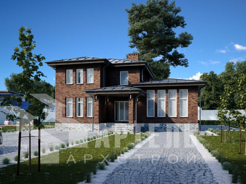 дом омбинированные дома площадью от 150 до 200 кв. м. с  мансардой, проект Вариант 13,5Б Камень и Комбинированный фотография 6191