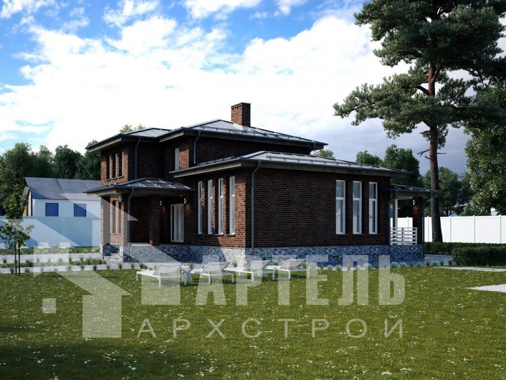 дом омбинированные дома площадью от 150 до 200 кв. м. с  мансардой, проект Вариант 13,5Б Камень и Комбинированный фотография 6192