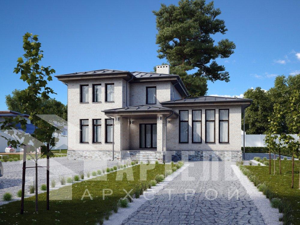 дом омбинированные дома площадью от 150 до 200 кв. м. с  мансардой, проект Вариант 13,5Б Камень и Комбинированный фотография 6193