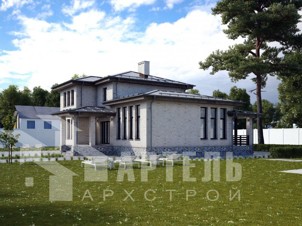 дом омбинированные дома площадью от 150 до 200 кв. м. с  мансардой, проект Вариант 13,5Б Камень и Комбинированный фотография 6194