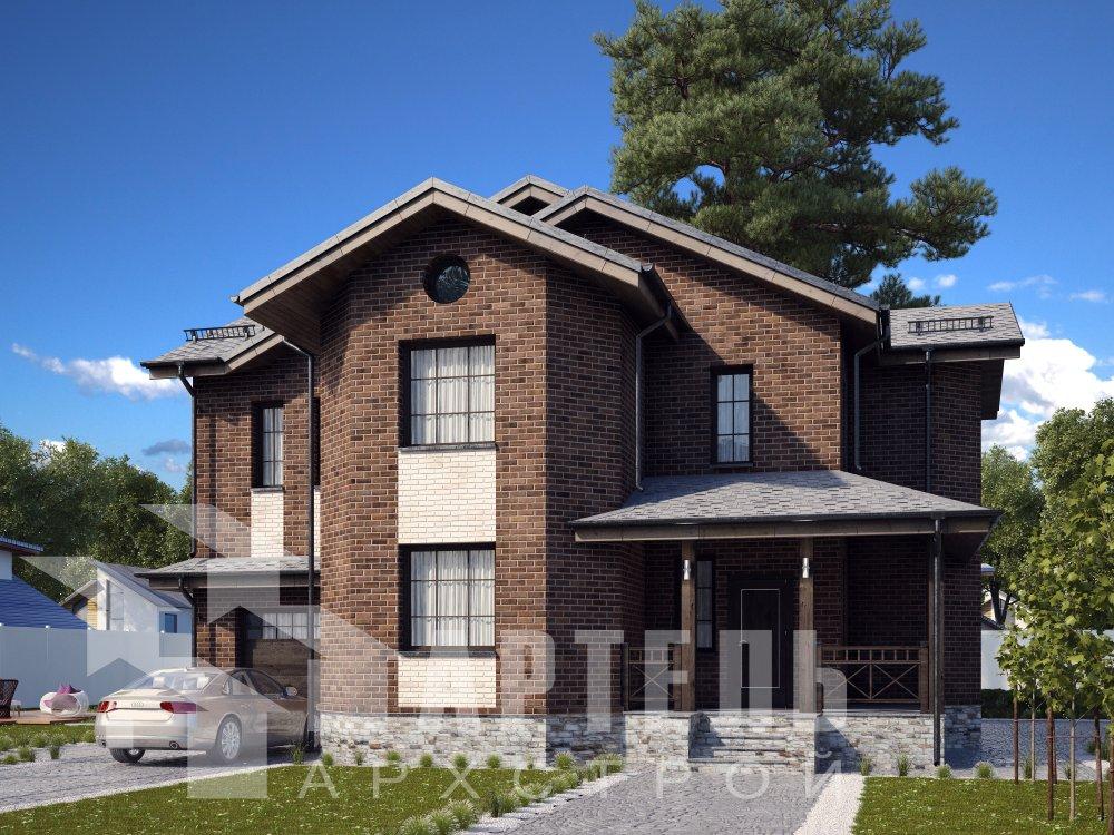 двухэтажный дом омбинированные дома площадью свыше 200 кв. м. с  эркером, проект Вариант 17 фотография 6355
