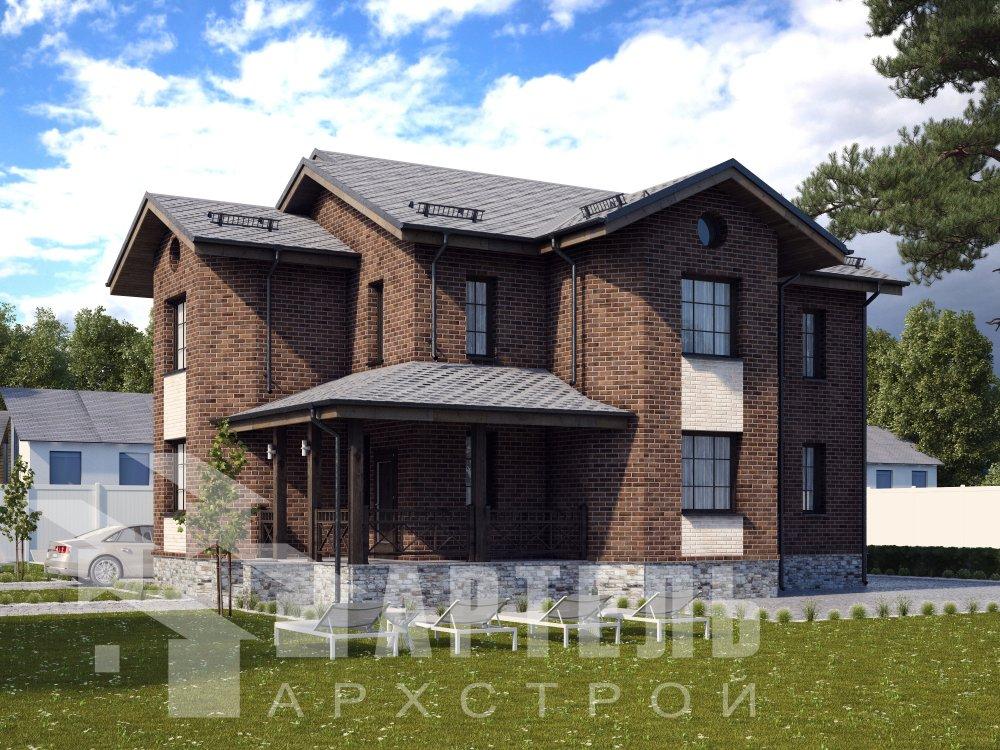 двухэтажный дом омбинированные дома площадью свыше 200 кв. м. с  эркером, проект Вариант 17 фотография 6356