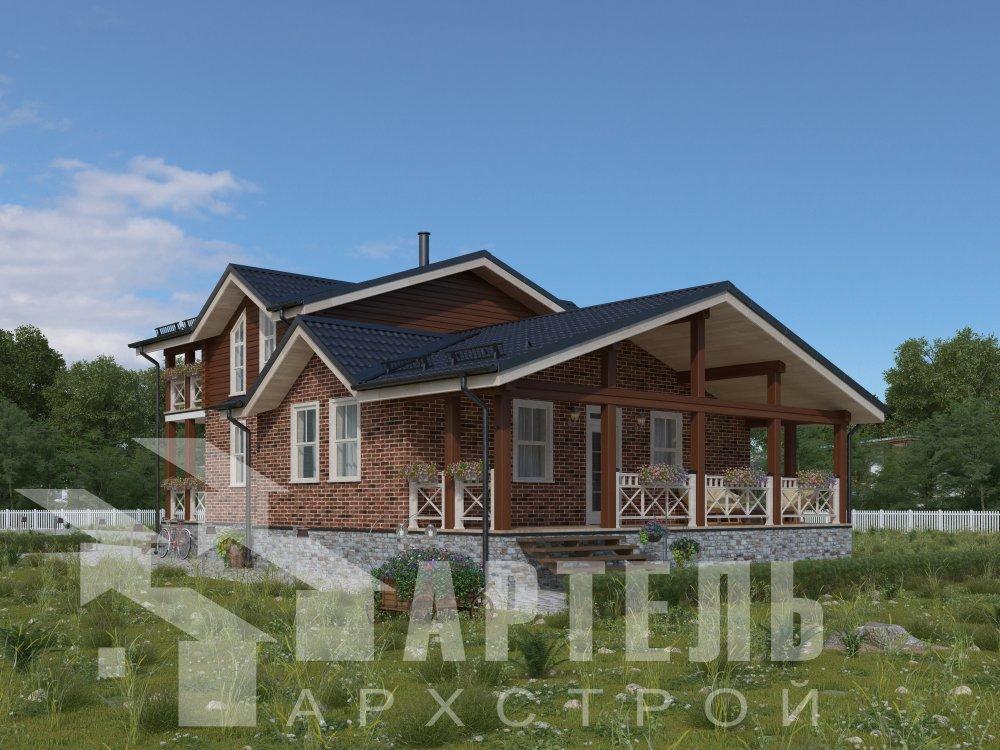 дом омбинированные дома, проект Вариант 15,9К Комбинированный фотография 5575