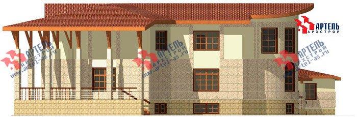 двухэтажный дом из камня площадью свыше 200 кв. м. с  террасой, эркером, проект Вариант 1 фотография 444