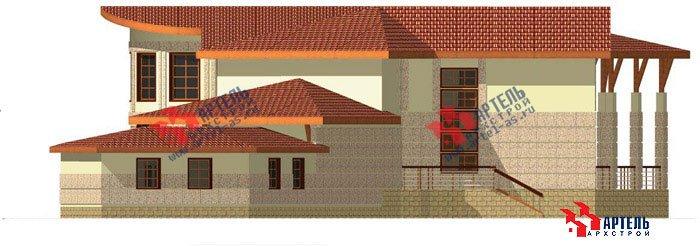 двухэтажный дом из камня площадью свыше 200 кв. м. с  террасой, эркером, проект Вариант 1 фотография 446