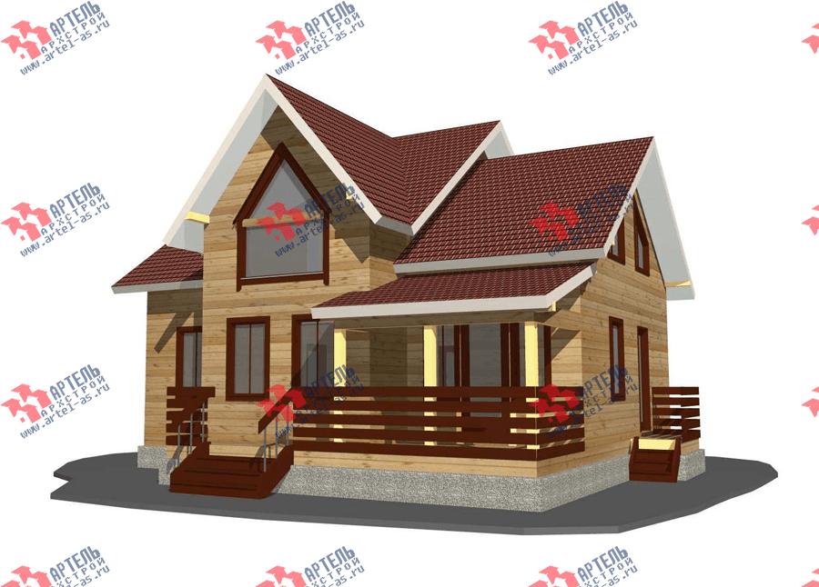 двухэтажный дом из профилированного бруса площадью от 150 до 200 кв. м. с  террасой, проект Вариант 10.5 В фотография 3504