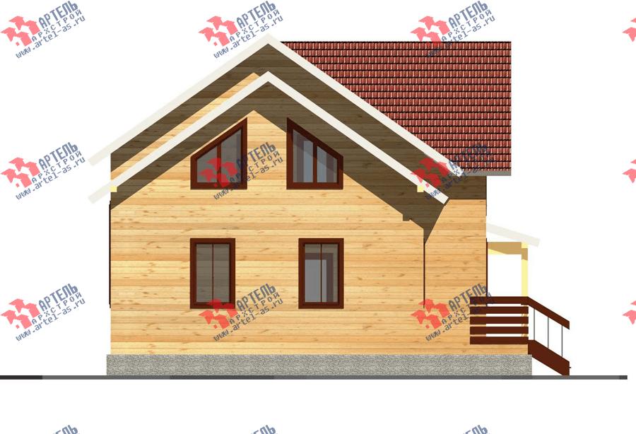 двухэтажный дом из профилированного бруса площадью от 150 до 200 кв. м. с  террасой, проект Вариант 10.5 В фотография 3506