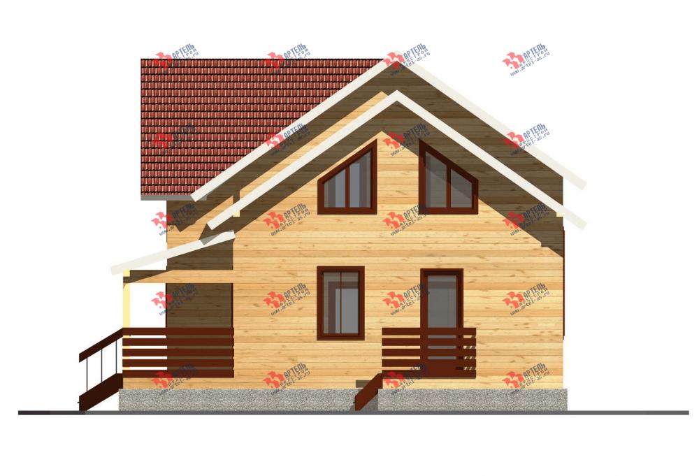 двухэтажный дом из профилированного бруса площадью от 150 до 200 кв. м. с  террасой, проект Вариант 10.5 В фотография 3508
