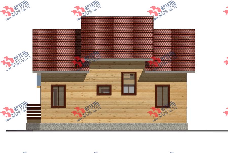 двухэтажный дом из профилированного бруса площадью от 150 до 200 кв. м. с  террасой, проект Вариант 10.5 В фотография 3515