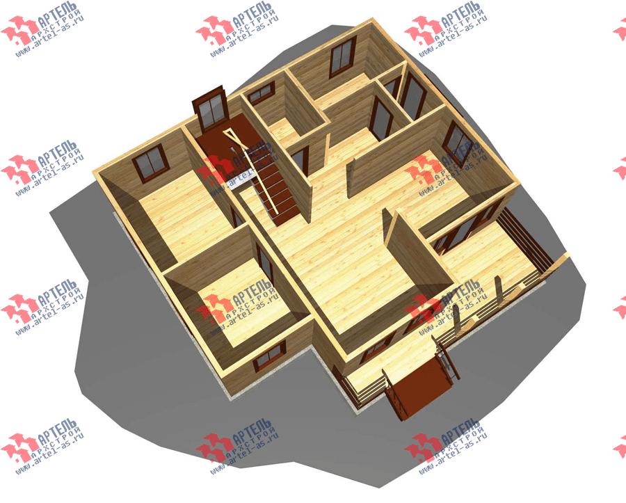 двухэтажный дом из профилированного бруса площадью от 150 до 200 кв. м. с  террасой, проект Вариант 10.5 В фотография 3510