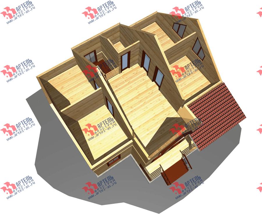 двухэтажный дом из профилированного бруса площадью от 150 до 200 кв. м. с  террасой, проект Вариант 10.5 В фотография 3511