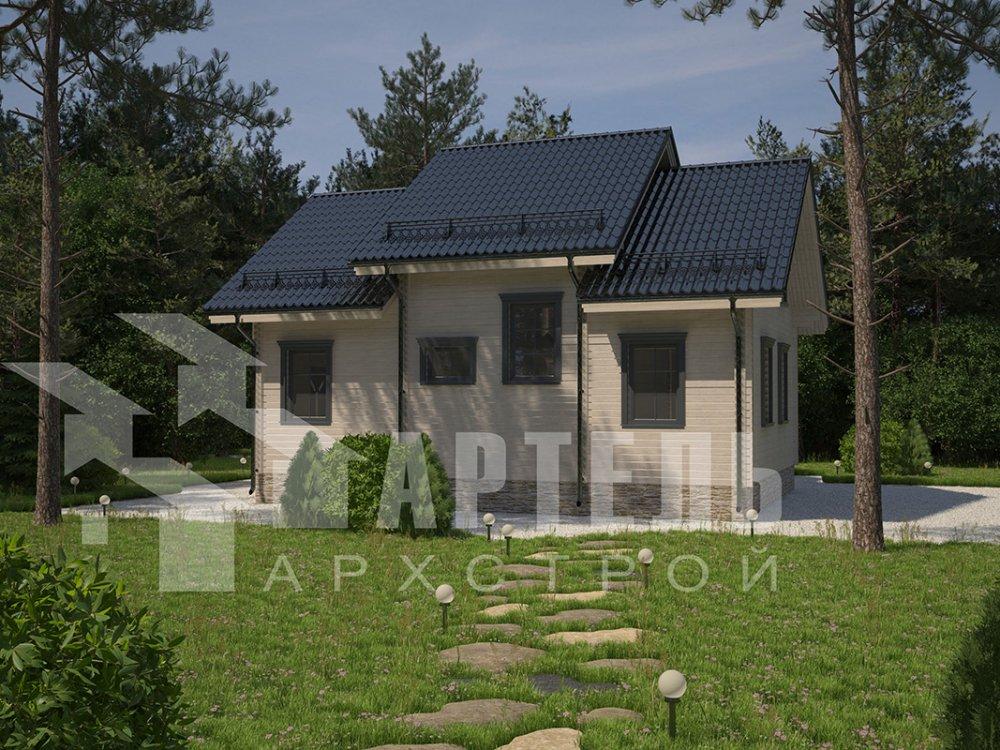 двухэтажный дом из профилированного бруса площадью от 150 до 200 кв. м. с  террасой, проект Вариант 10.5 В фотография 4287
