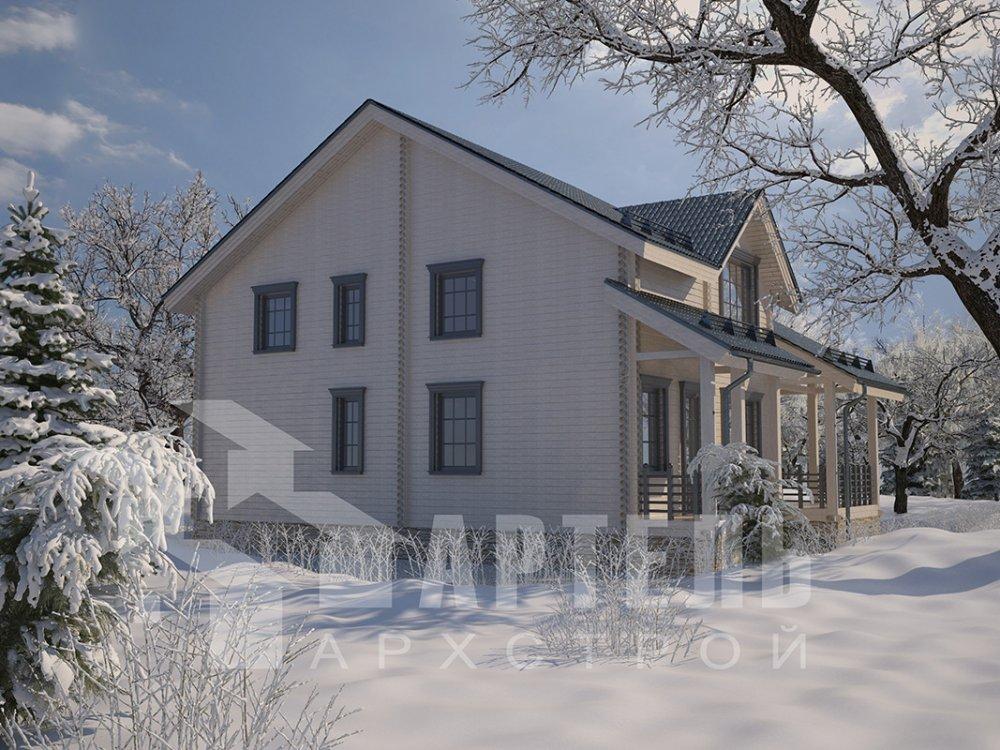 двухэтажный дом из профилированного бруса площадью свыше 200 кв. м. с  мансардой, проект Вариант 10.7 К фотография 4584