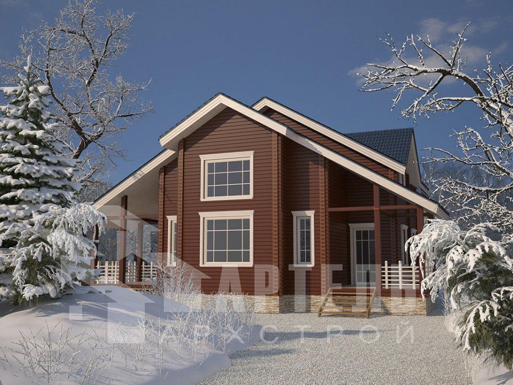 двухэтажный дом из профилированного бруса площадью свыше 200 кв. м. с  мансардой, проект Вариант 10.7 К фотография 4593