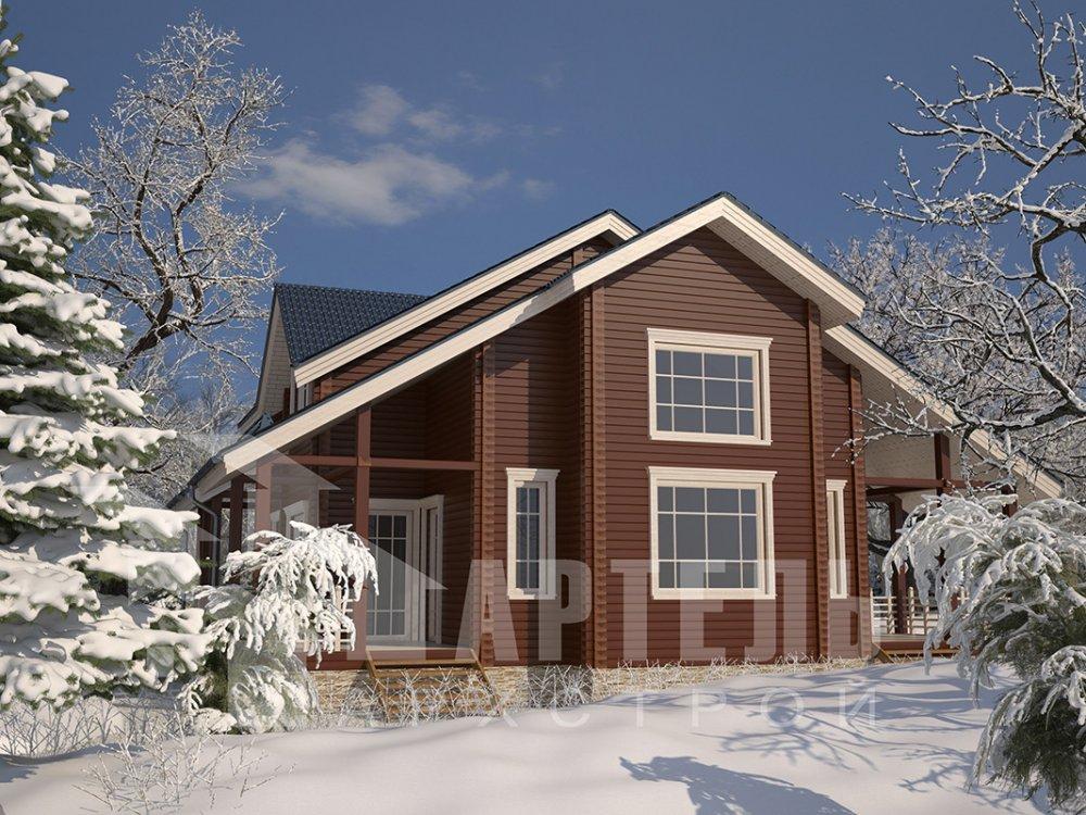 двухэтажный дом из профилированного бруса площадью свыше 200 кв. м. с  мансардой, проект Вариант 10.7 К фотография 4594