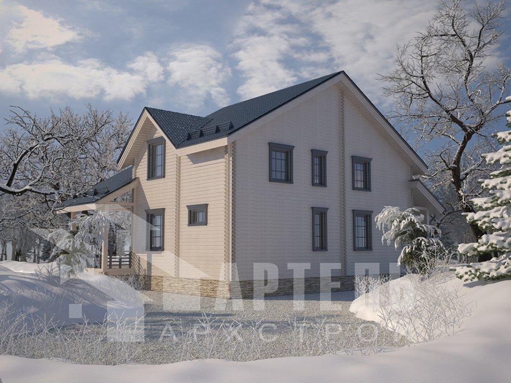 двухэтажный дом из профилированного бруса площадью свыше 200 кв. м. с  мансардой, проект Вариант 10.7 К фотография 4585