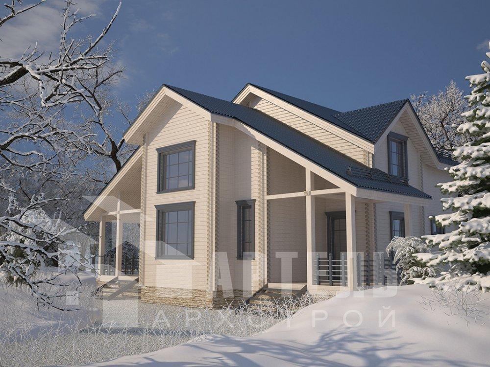 двухэтажный дом из профилированного бруса площадью свыше 200 кв. м. с  мансардой, проект Вариант 10.7 К фотография 4586