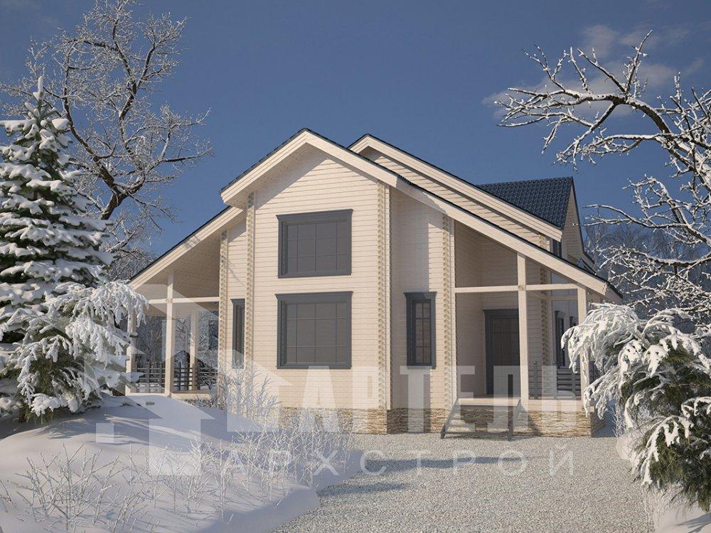 двухэтажный дом из профилированного бруса площадью свыше 200 кв. м. с  мансардой, проект Вариант 10.7 К фотография 4587