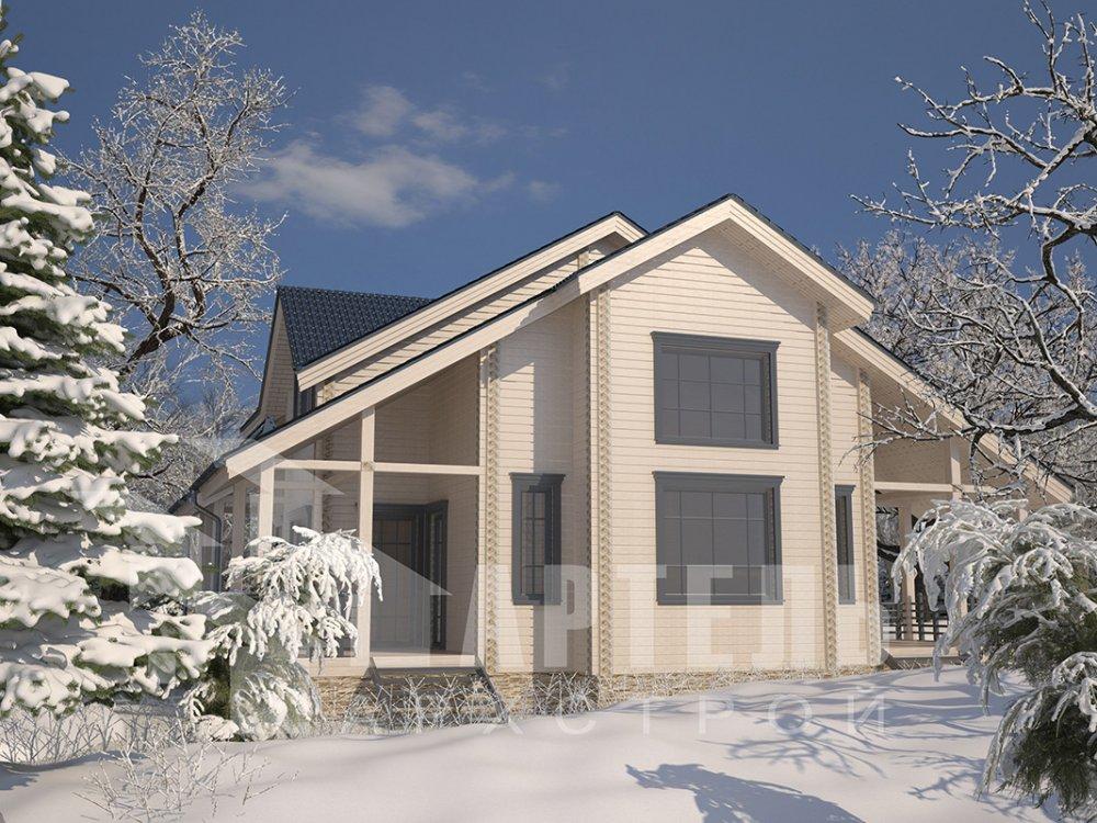 двухэтажный дом из профилированного бруса площадью свыше 200 кв. м. с  мансардой, проект Вариант 10.7 К фотография 4588