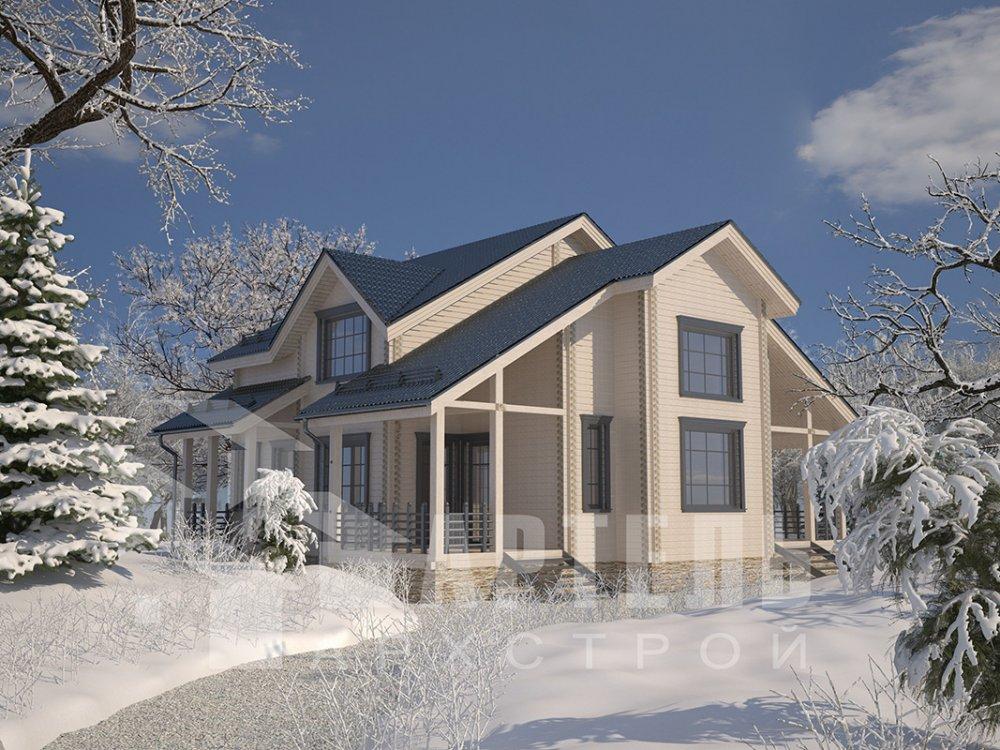 двухэтажный дом из профилированного бруса площадью свыше 200 кв. м. с  мансардой, проект Вариант 10.7 К фотография 4589