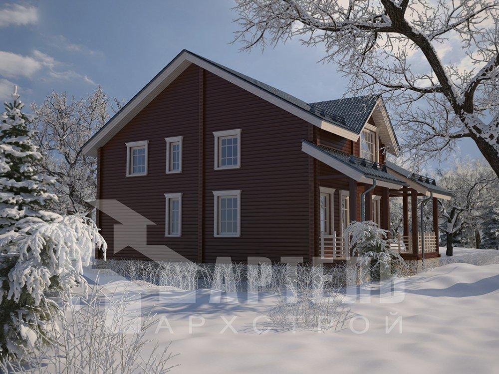 двухэтажный дом из профилированного бруса площадью свыше 200 кв. м. с  мансардой, проект Вариант 10.7 К фотография 4590
