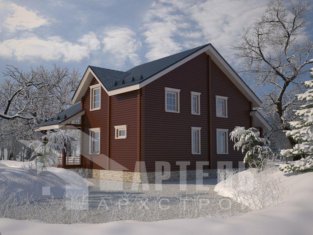 двухэтажный дом из профилированного бруса площадью свыше 200 кв. м. с  мансардой, проект Вариант 10.7 К фотография 4591