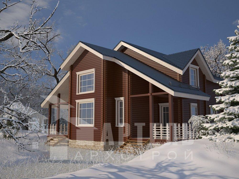 двухэтажный дом из профилированного бруса площадью свыше 200 кв. м. с  мансардой, проект Вариант 10.7 К фотография 4592