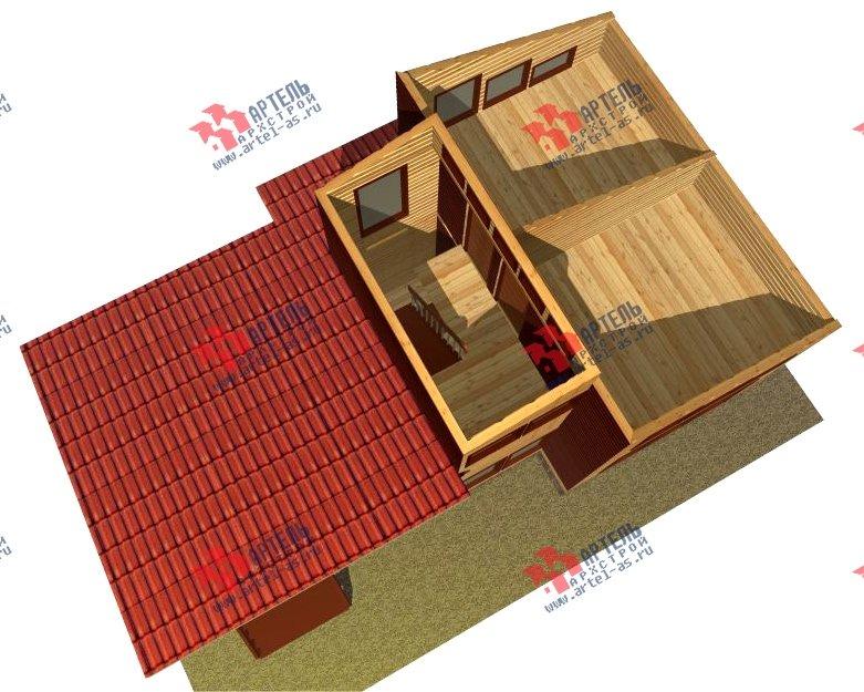 двухэтажный дом из бруса площадью до 100 кв. м. с  мансардой, проект Вариант 7 Л фотография 2171