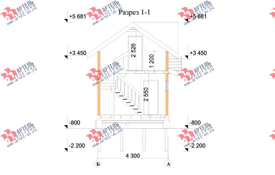 двухэтажный дом из профилированного бруса площадью до 100 кв. м., проект Вариант 7 фотография 3357