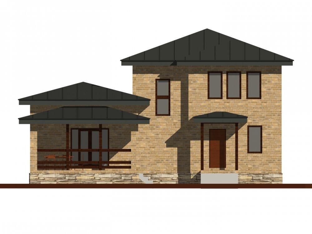 дом омбинированные дома площадью от 150 до 200 кв. м. с  мансардой, проект Вариант 13,5Б Камень и Комбинированный фотография 6123