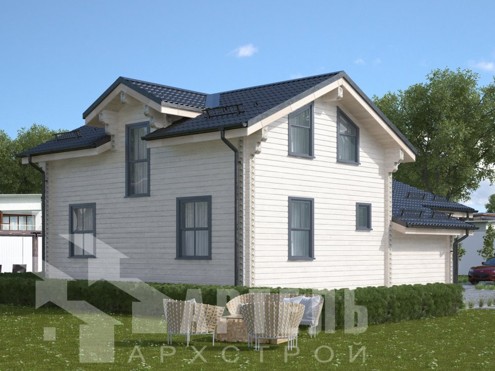 двухэтажный дом из профилированного бруса площадью от 100 до 150 кв. м., проект Вариант 13.3 А фотография 6585