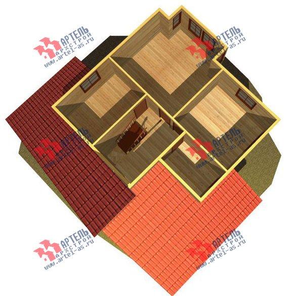 двухэтажный дом из бруса площадью от 150 до 200 кв. м. с  мансардой, террасой, проект Вариант 13 В фотография 2226
