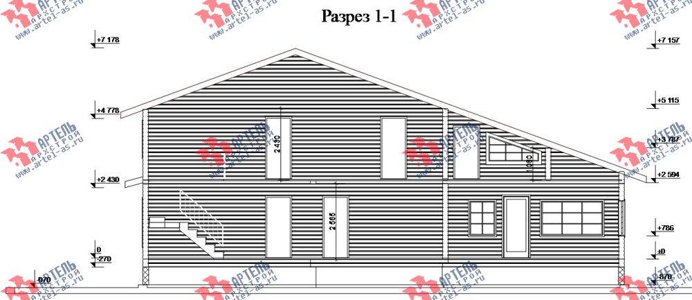 двухэтажный дом из бруса площадью свыше 200 кв. м. с  балконом, мансардой, террасой, проект Вариант 18 А фотография 2423