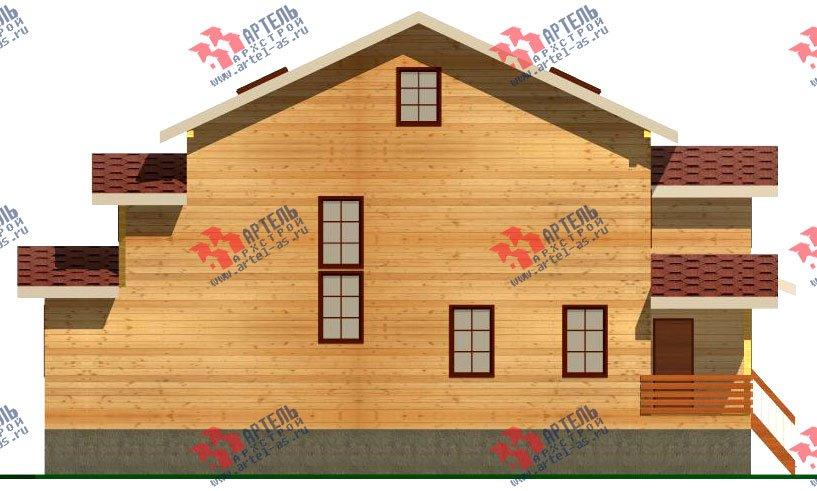 двухэтажный дом из бруса площадью свыше 200 кв. м. с  мансардой, террасой, проект Вариант 11.1 А фотография 2582