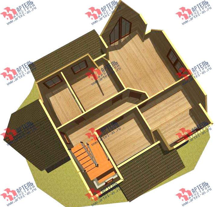 двухэтажный дом из камня площадью свыше 200 кв. м. с  террасой, проект Вариант 29 фотография 3179