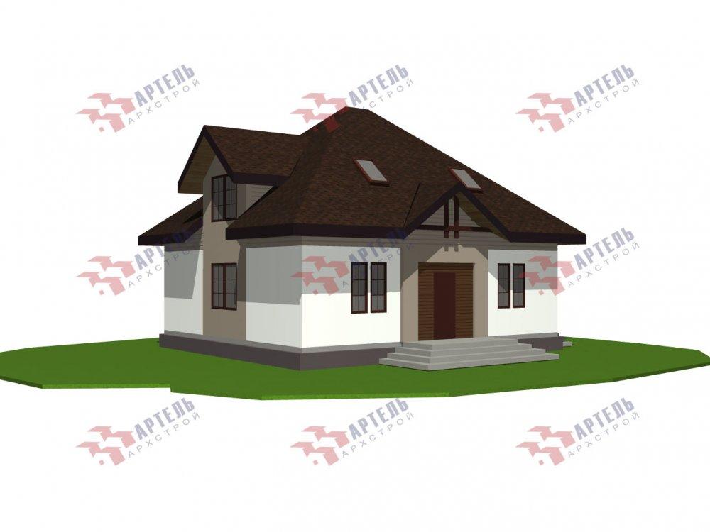 дом из камня, проект Вариант 10,5К Каменный фотография 5747