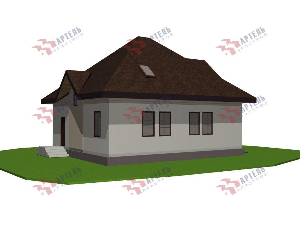 дом из камня, проект Вариант 10,5К Каменный фотография 5748