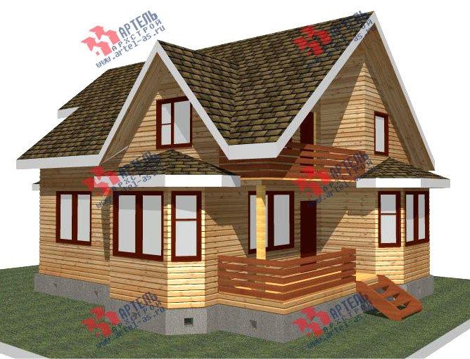 двухэтажный дом из бруса площадью от 150 до 200 кв. м. с  балконом, мансардой, террасой, эркером, проект Вариант 8 К-3 фотография 2461
