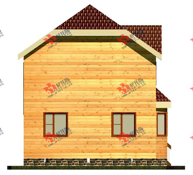 двухэтажный дом из бруса площадью от 100 до 150 кв. м. с  мансардой, эркером, проект Вариант 7 Б фотография 915