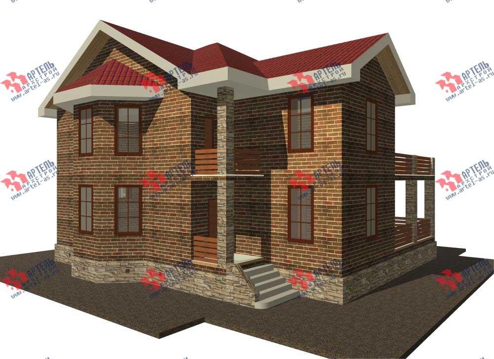 двухэтажный дом из камня площадью свыше 200 кв. м. с  балконом, террасой, эркером, проект Вариант 11 фотография 549