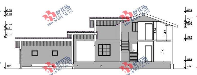 двухэтажный дом из бруса площадью от 150 до 200 кв. м. с  гаражом, мансардой, проект Вариант 8.6 Б фотография 2445