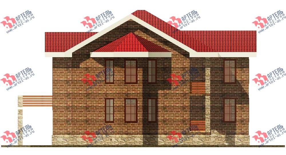 двухэтажный дом омбинированные дома площадью свыше 200 кв. м. с  балконом, террасой, эркером, проект Вариант 11 фотография 550