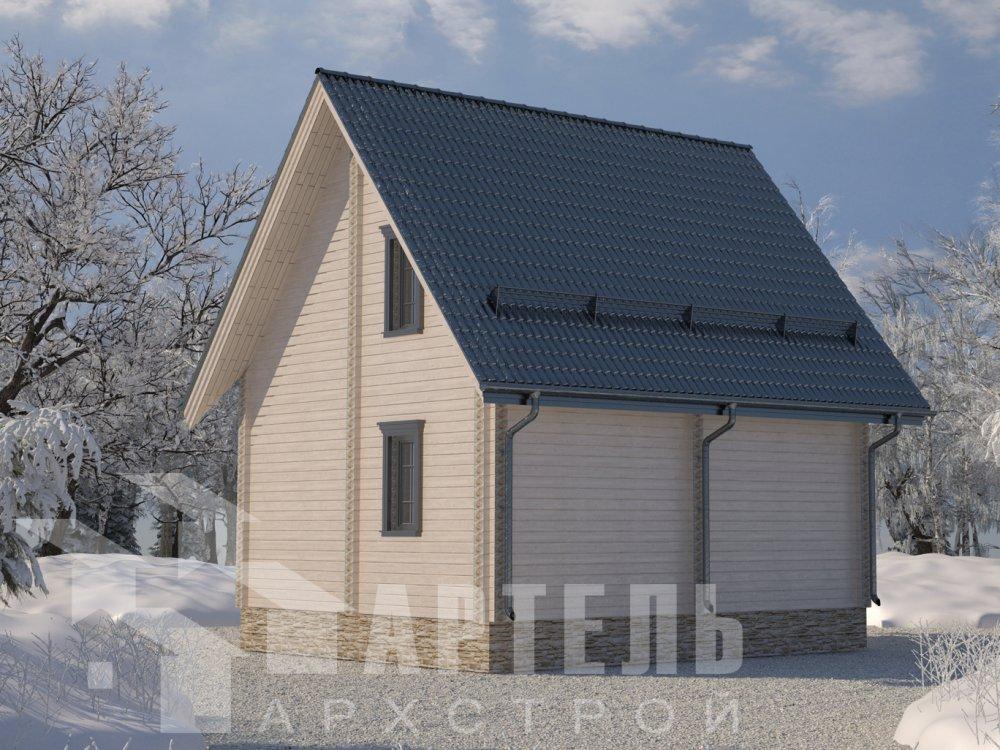 двухэтажный дом из профилированного бруса площадью до 100 кв. м. с  мансардой, проект Вариант 6 Д фотография 6569