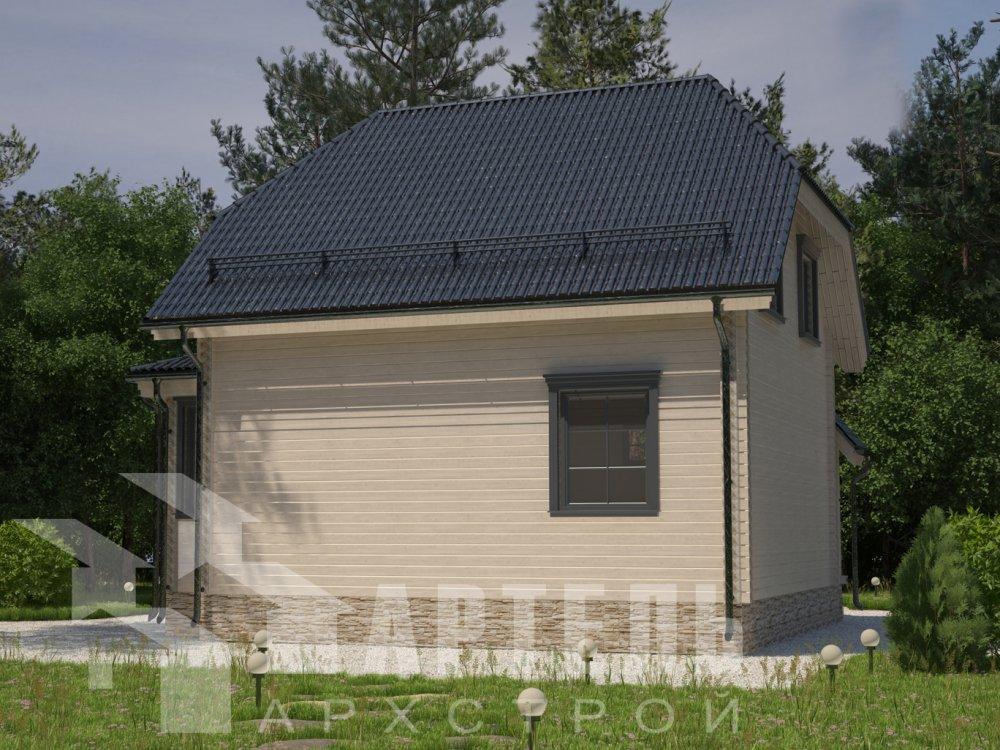 двухэтажный дом из профилированного бруса площадью до 100 кв. м. с  мансардой, эркером, проект Вариант 7 Г фотография 6601