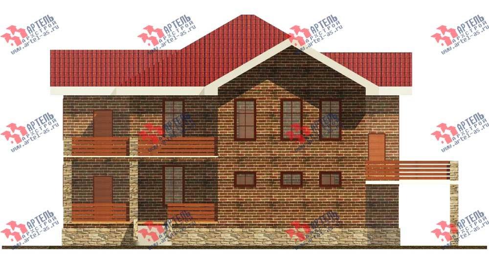 двухэтажный дом из камня площадью свыше 200 кв. м. с  балконом, террасой, эркером, проект Вариант 11 фотография 552