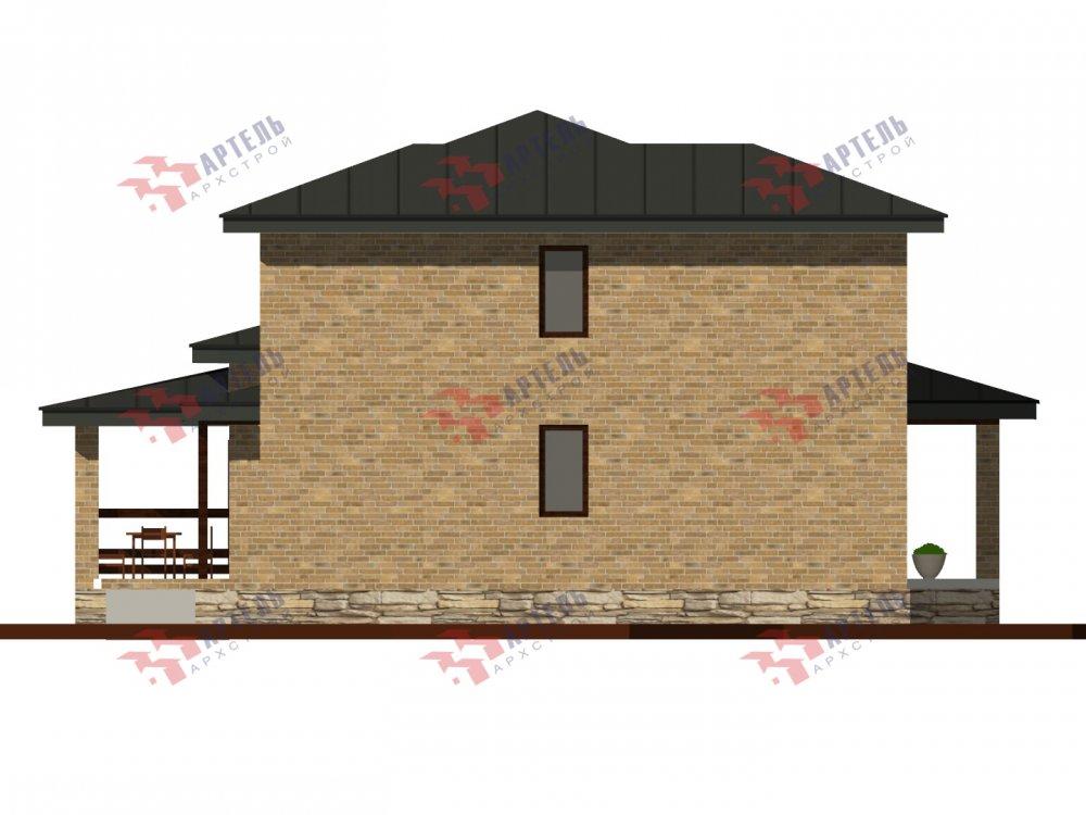 дом омбинированные дома площадью от 150 до 200 кв. м. с  мансардой, проект Вариант 13,5Б Камень и Комбинированный фотография 6124